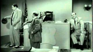 The Abbott and Costello Show - Courtroom scene from TELEVISION episode