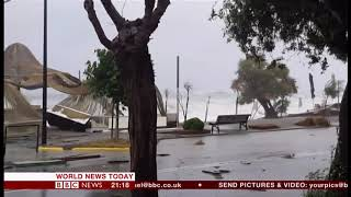 Extreme weather 2018 - Cyclone Zorbas (Greece) - BBC News - 29th September 2018