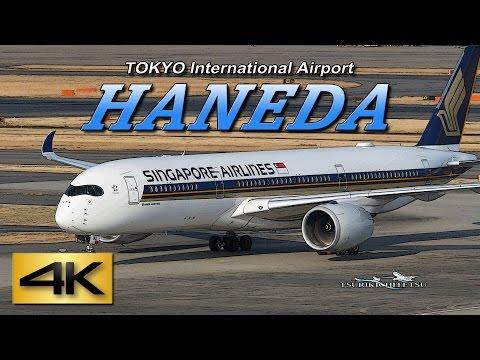 【4K】Singapore Airlines Airbus A350 @HANEDA Airport JAPAN International-terminal