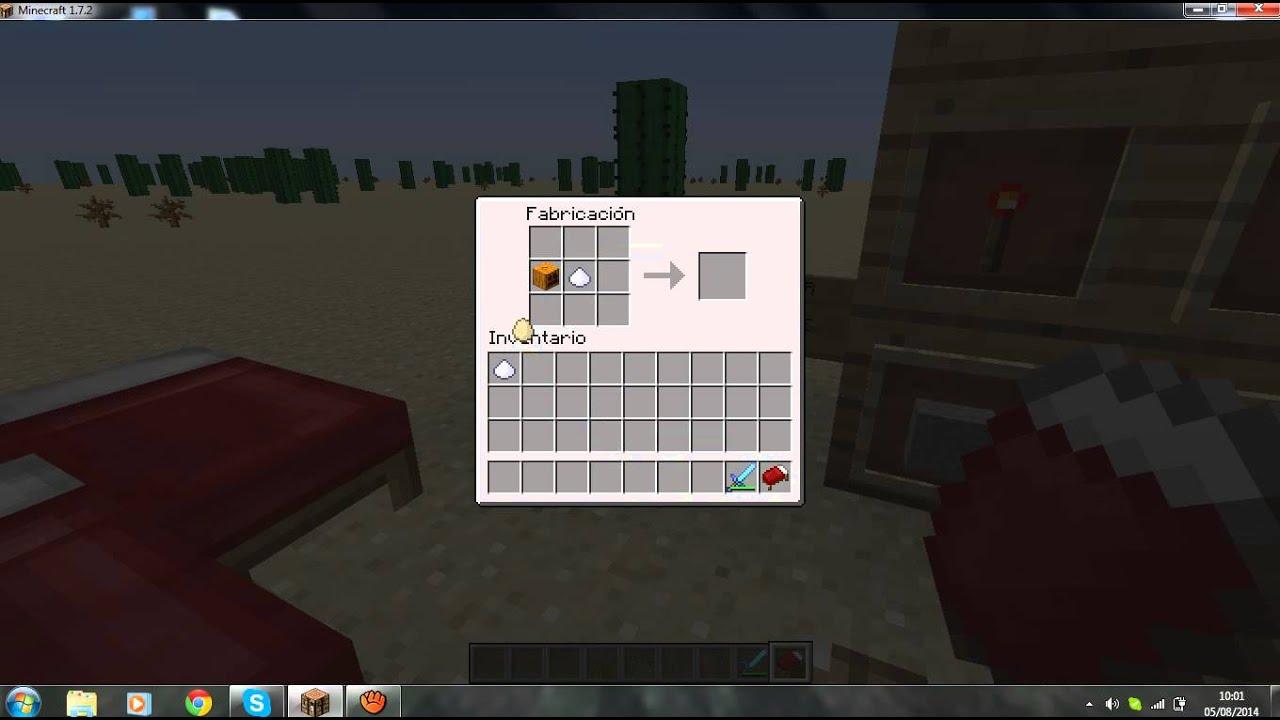 Minecraft como hacer una tarta de calabaza y una cama for Cama minecraft
