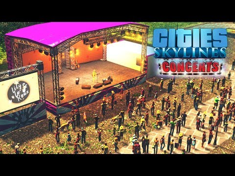 Обзор DLC Concerts 🎸 к Cities: Skylines! Новая музыка, радиостанция и концерты! |