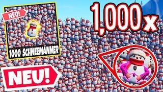 1000 SCHNEEMÄNNER, ABER nur 1 RICHTIGER!