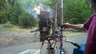 Gas Turbine Vertical test-4, for Mosquito Ultralight helicopter.