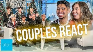 BTS on The Ellen Show - Couple Reacts to 'Friends' Interview!