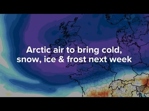 Arctic air to bring cold, snow, ice and frost to UK next week