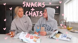 SNACKS AND CHATS!!! | storytime | Sophia and Cinzia