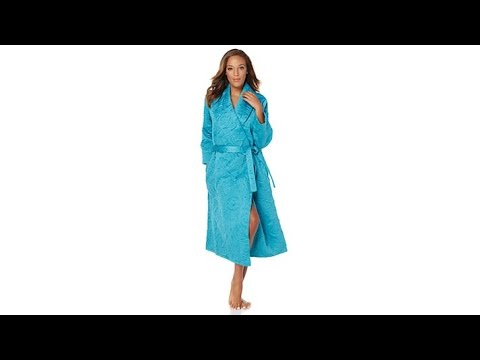Highgate Manor Quilted Satin Robe - YouTube : quilted satin robe - Adamdwight.com