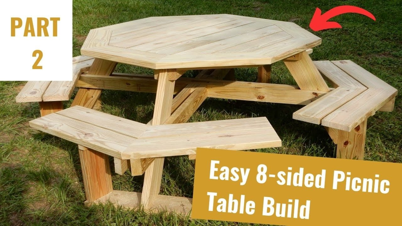 Build an Octagon Picnic Table Part 2 - YouTube