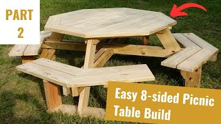 Build An Octagon Picnic Table Part 2