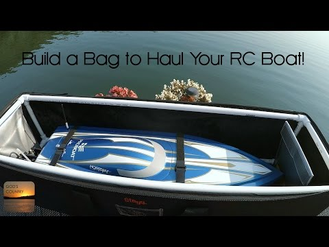DIY RC Boat Bag for V-Hulls and Catamarans - Easy to Build!