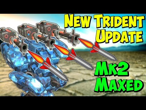 New Power Mk2 Maxed TRIDENT FURY Update - War Robots 45 Gameplay WR