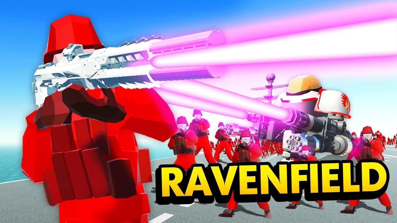 INCREDIBLE LASER RIFLE vs HUGE ARMIES IN Ravenfield (Ravenfield
