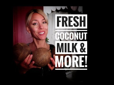 What to do with a fresh coconut?