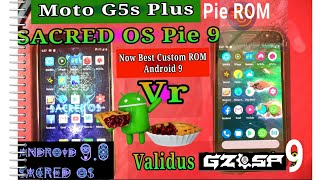 Moto g5s plus stable android 9 0 validus ground zero rom