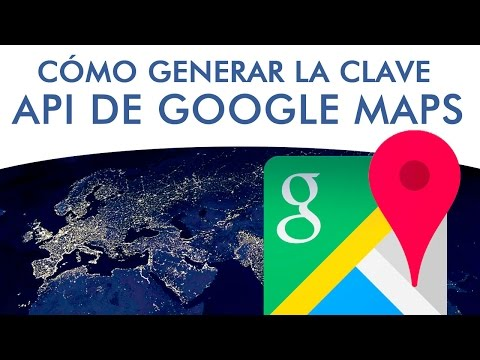 Generar API para insertar mapas de Google Maps en página web.