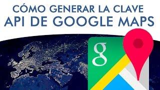 Generar API para insertar mapas de Google Maps en página web. Free HD Video