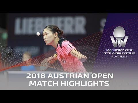 Liu Shiwen vs Chen Meng   2018 ITTF Austrian Open Highlights (1/4)