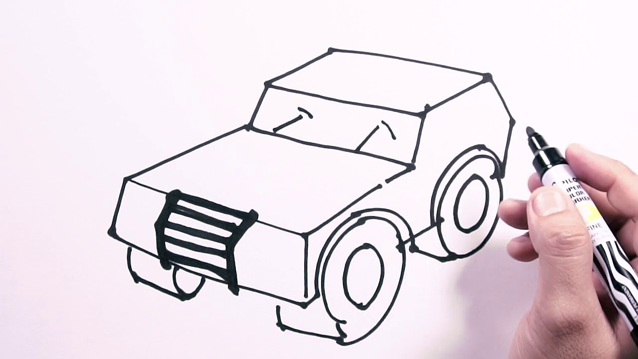 How To Draw Off Road Jeep Draw Easy Freehand Easy To Follow
