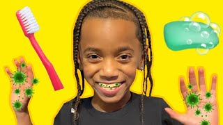 Brush Your Teeth And Wash Your Hands!| Kids Pretend Play Learn To Brush Teeth And Wash Hands With Kd