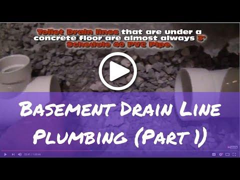 How to Plumb Basement Bathroom Drain Lines (Part 1)