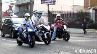 Superbikes Sounds: Suzuki, BMW, Kawasaki, Yamaha & Honda Accelerating and Wheelies - Bikers 47