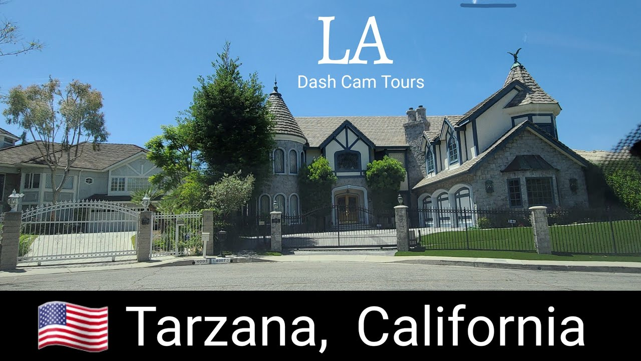Driving Tour of Tarzana, a neighborhood named after a fictional character. Dash  Cam Tours