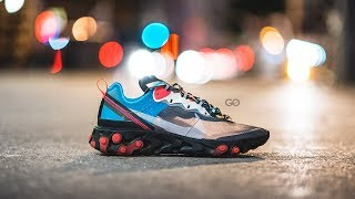 """Nike React Element 87 """"Blue Chill / Solar Red"""": Review & On-Feet"""