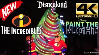 INCREDIBLES NEW FLOAT PREMIERS!!! [4K] FULL SHOW (VIP VIEWING) Paint The Night Parade - Disneyland