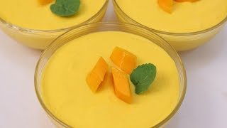 3 Ingredients Mango Mousse Recipe | Eggless Mango Mousse | How to make Mango mousse | Mango Recipes