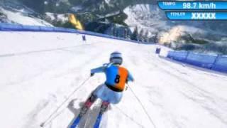 RTL Winter Sports 2009 Ski Alpin Super G Damen Frauen Germany Deutschland mit REGEN