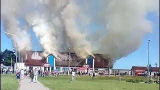 Пожар  физкультурно-оздоровительного комплекса (ФОК) Миоры