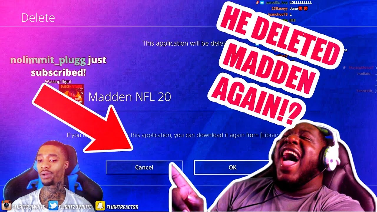 @FlightReacts  DELETED MADDEN AGAIN!! + FAKE JORDAN STORY TIME