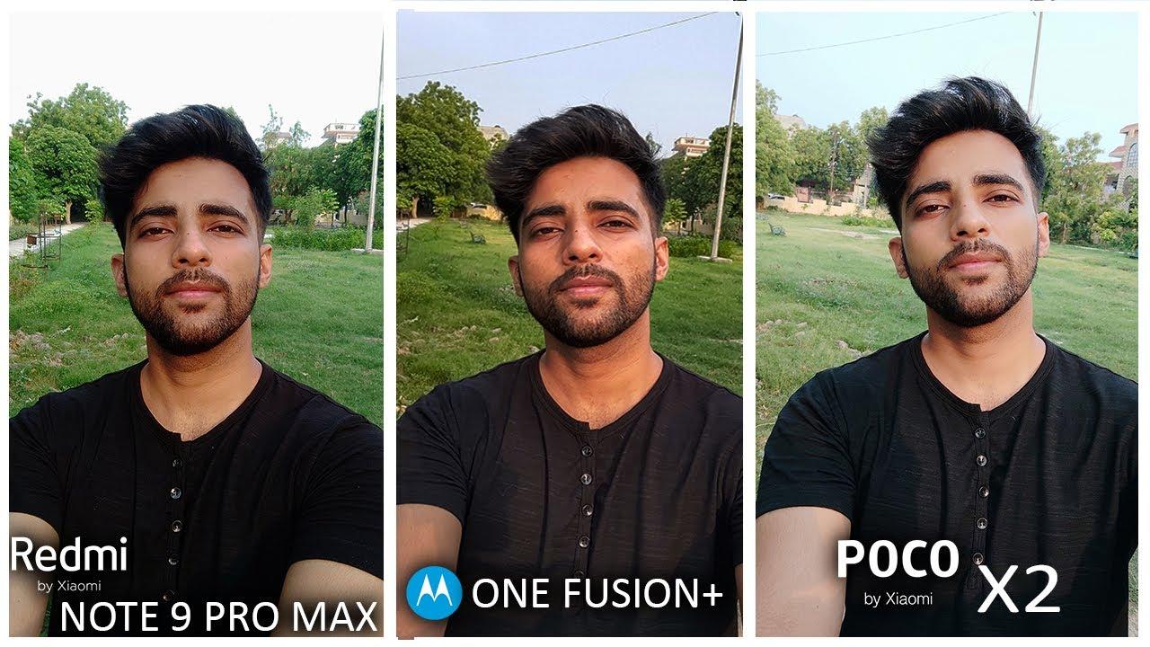 Motorola One Fusion Plus Vs Redmi Note 9 pro max Vs Poco X2 - Full Detailed Camera Comparison !!