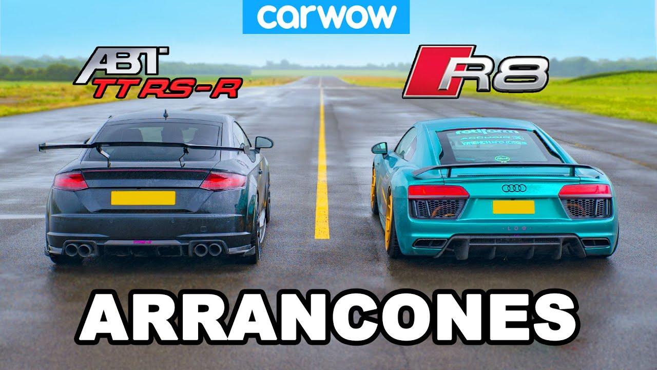 Audi R8 vs TT RS-R: ARRANCONES *V10 vs 5cyl tuneado por ABT*