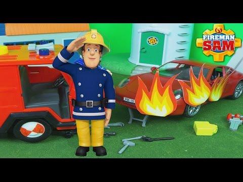 Brandweerman Sam Garage : Mark voet s bestelwagen groen uit de brandweerman sam tv serie