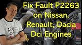 Nissan Qashqai+2 DPF sensor diagnostic repair R9M P2002 P1525 - YouTube