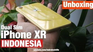 Unboxing iPhone XR Dual Sim Indonesia by iTechlife