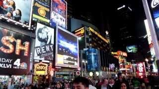 NYCニューヨーク ブロードウェイの夜景 New York  タイムズスクエア America thumbnail
