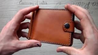 Зажим для купюр с обложкой для удостоверения из натуральной кожи ручной работы