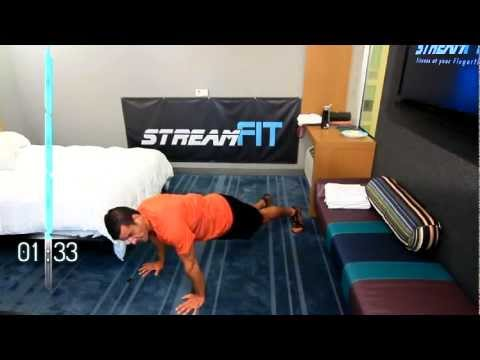 12-minute Hotel Room Follow-along Travel Workout Great
