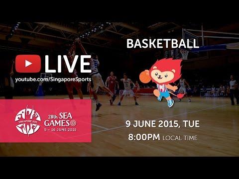Basketball Mens Singapore vs Myanmar (Day 4)   28th SEA Games Singapore 2015