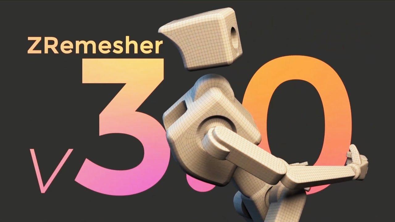 ZBrush 2019 Tutorial - ZRemesher 3 0