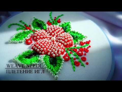 Hand Embroidery: BEADWORK 🌸🌸🌸 #malina_gm