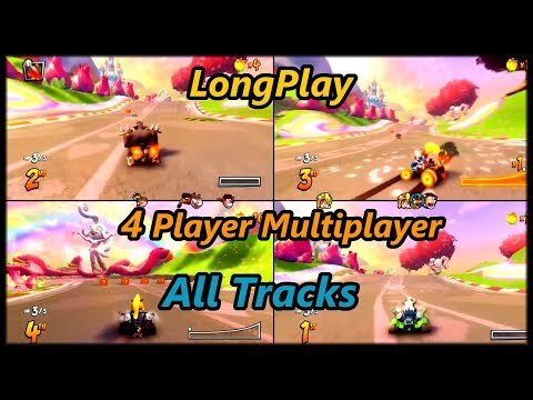 Crash Team Racing Nitro-Fueled - Longplay (4 Player Multiplayer) All Tracks/Maps (No Commentary)