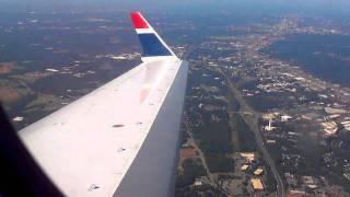 US Airways CRJ-900  Takeoff / Landing  CLT-ILM  (Seat 11A)