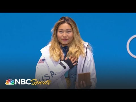 Medal ceremony: Chloe Kim gets her gold medal
