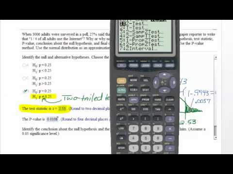 Finding P Value How To Calculate