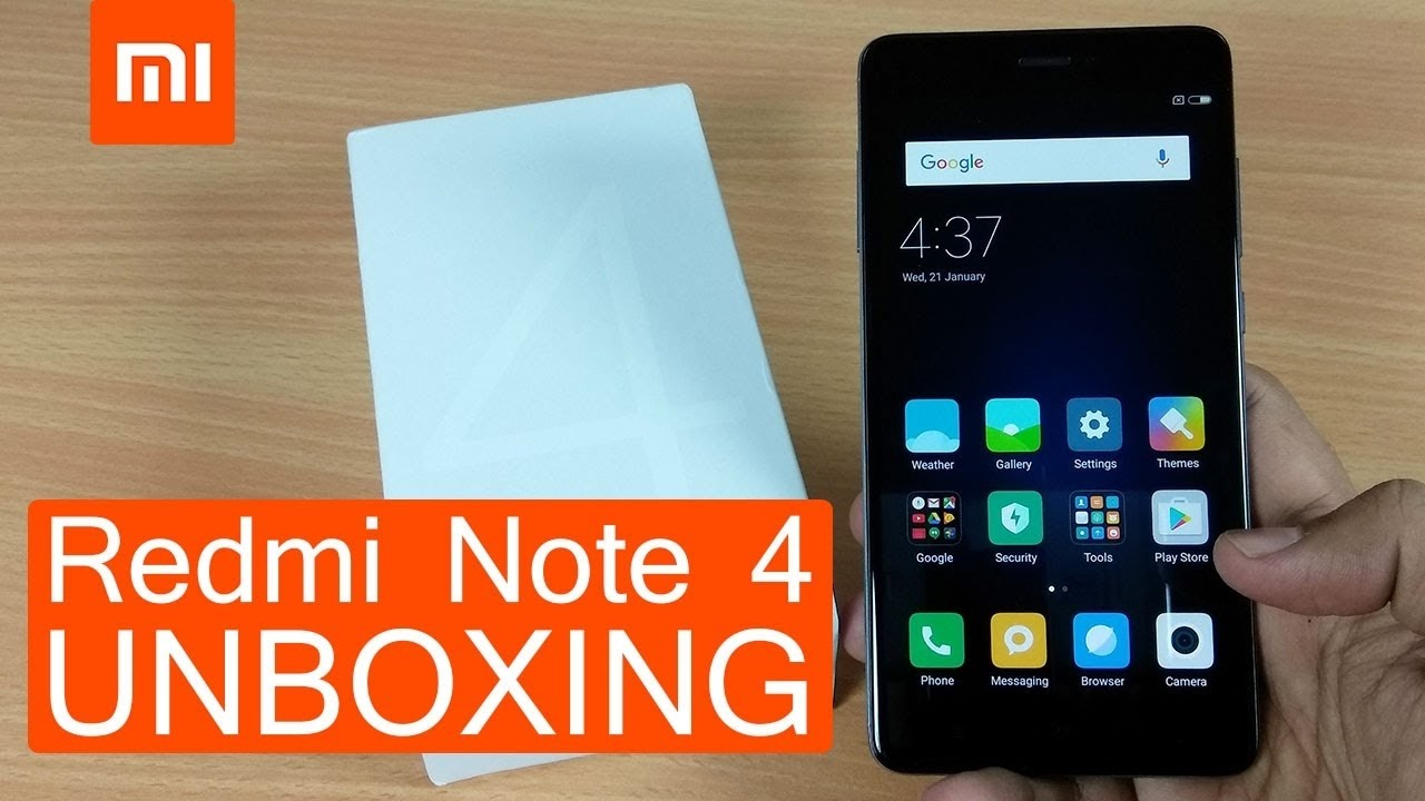 Redmi Note 4 Unboxing: Redmi Note 4 Unboxing & Hands On!! (BLACK)