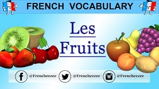 LEARN FRENCH WORDS - FOOD VOCABULARY - FRUITS