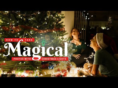 How to Take (Magical) Portraits with Christmas Lights